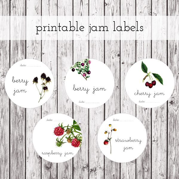 printable jam labels by packagery